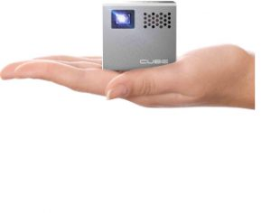 RIF6 Cube Mobile Projector with 120 inch