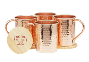 Moscow Mule Copper-Mugs-Set-of 4 by Advanced Mixology