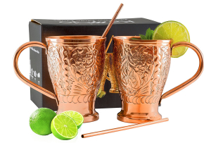 Moscow Mule Pure Copper Mug Set