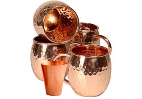 Skotz LLC 4 Set Solid Copper Moscow Mule