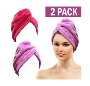 Bath Blossom Microfiber Hair Towel