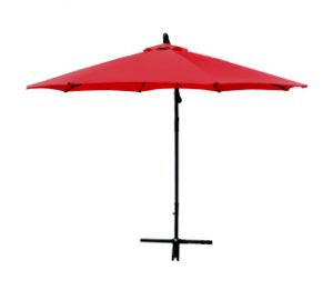Red Patio Umbrella Offset 10