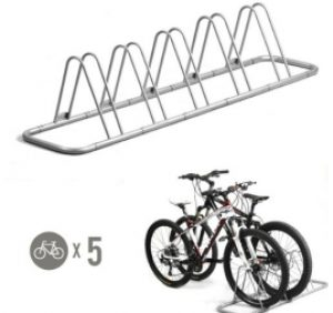 5 Bike Bicycle Floor Parking Rack