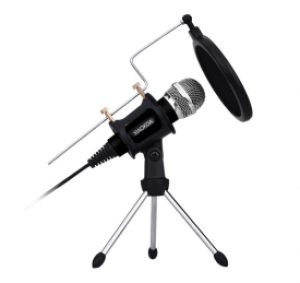 XIAOKOA Professional Podcasting Microphone Black