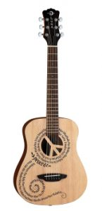 Luna Safari Series Peace Travel Guitar